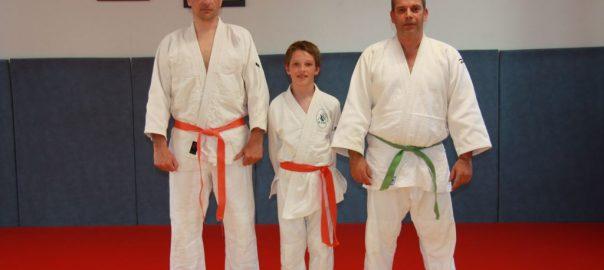 Benjamin CHARTIER entouré de Lionel à gauche et Eric Noel à droite